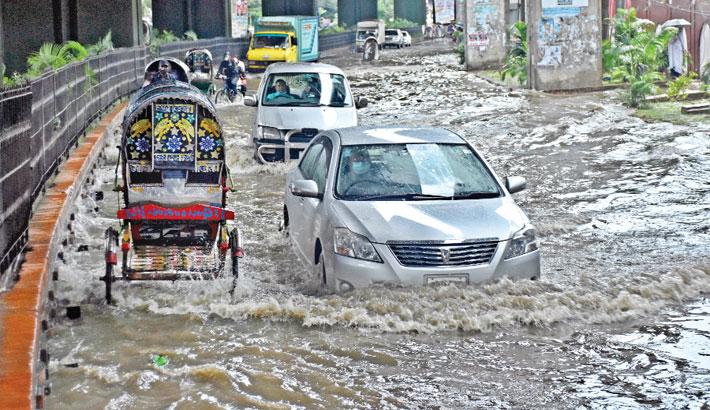 Heavy rain disrupts normal life
