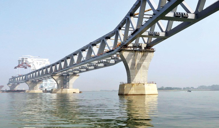 5.1km of Padma Bridge visible after installation of 34th span