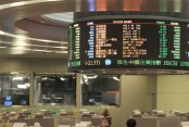 Hong Kong shares up at lunch