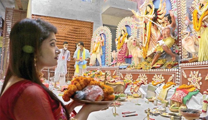 Goddess Durga during the Maha Nabami