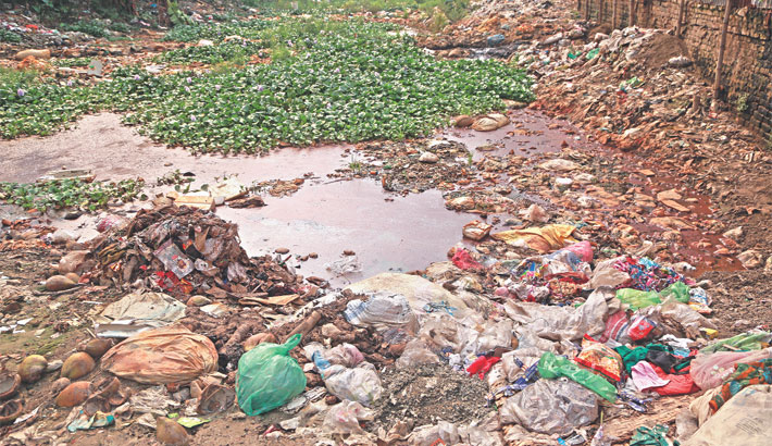 Polluting the water body