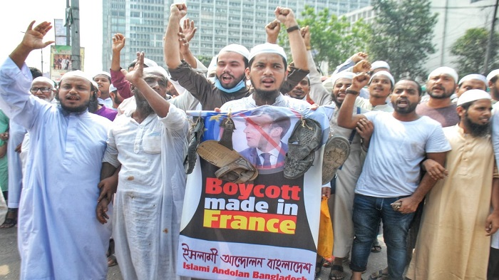 Protest procession against Marcon's anti-Islam remarks foiled