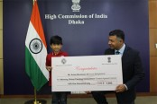 Bangladeshi boy wins Indian painting competition prize