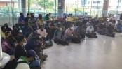 Grameenphone employees stage demo