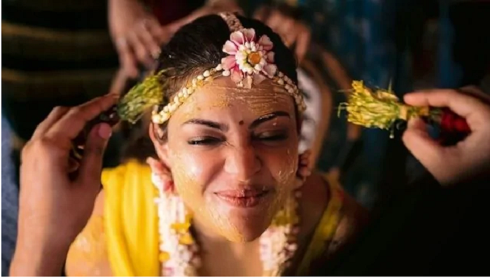 Kajal shares images of Haldi ceremony ahead of marriage with Gautam