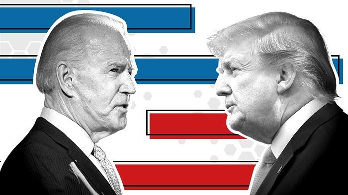 Trump and Biden cross paths in final sprint as virus rages
