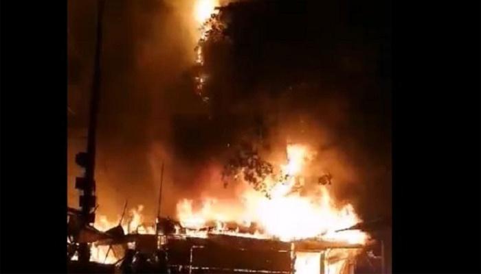 Two receive burn injuries as fire guts Kalyanpur slum