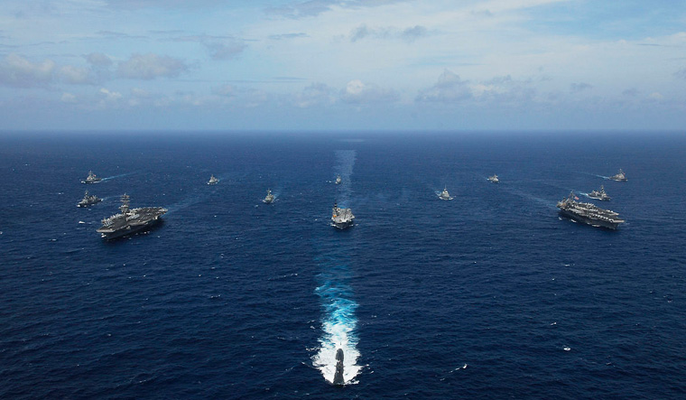 Four-nation Malabar exercise to take place from 3-6 November in Bay of Bengal