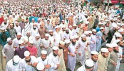 Hefazat stages massive protest