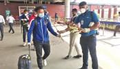 Nepal football team arrive in Dhaka
