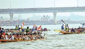 Traditional boat race held in Madhumati River