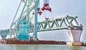 36th span of Padma Bridge installed