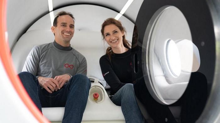 Virgin Hyperloop pod transport tests first passenger journeys
