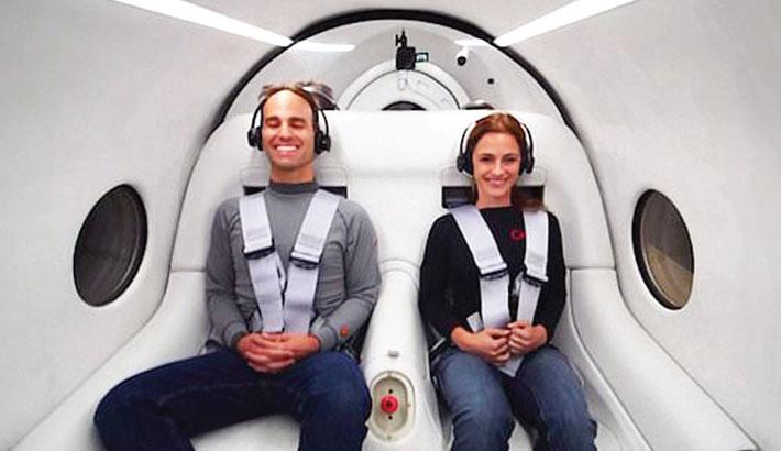 Virgin's Hyperloop makes first passenger journey
