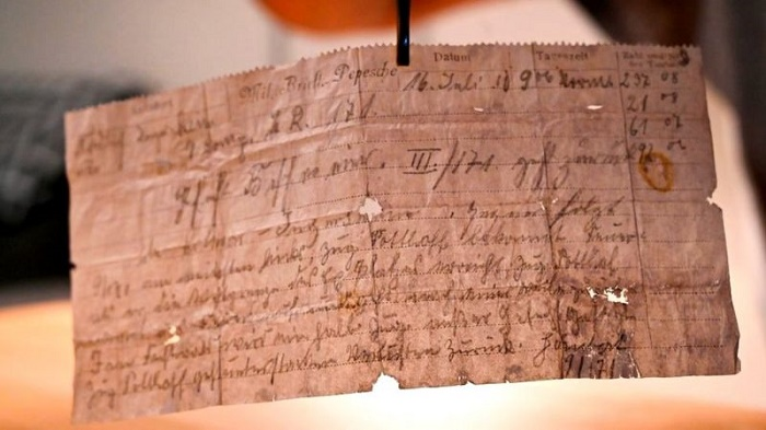Pigeon message found over a century after sent by German soldier