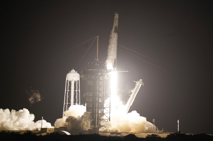 SpaceX rocket lifts off for space station with four astronauts