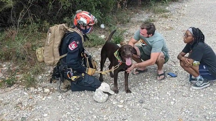 Dog survives 70 foot fall from Texas cliff