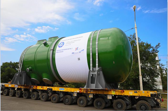 Reactor pressure vessel, generator reached to RNPP site