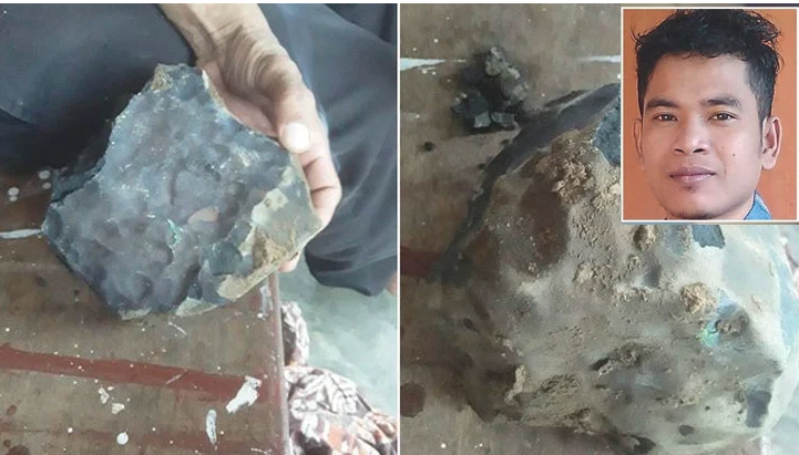 Indonesian man becomes instant millionaire after meteorite crashes through roof