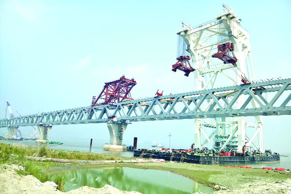 38th span installed on Padma Bridge, over 5.7 km now visible