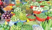 Vegetable, fish prices fall slightly