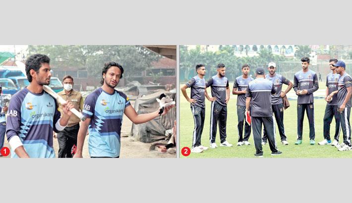 Shakib joins training with teammates