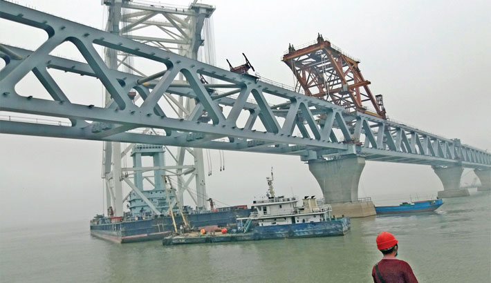 38th span of Padma Bridge  installed