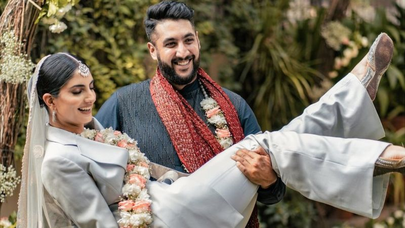 Indian bride wore a pantsuit to her wedding