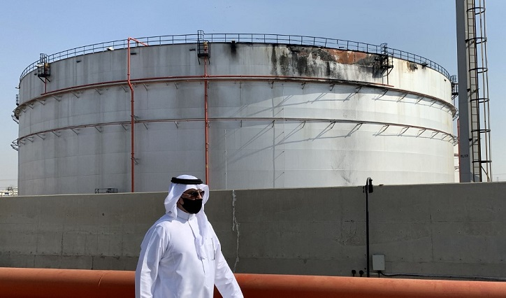 Saudi Aramco says Huthi strike tore large hole in oil tank