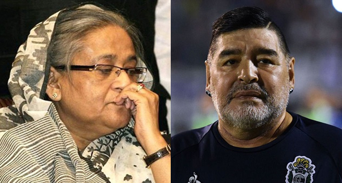 Maradona to remain in hearts of football fans forever: Sheikh Hasina