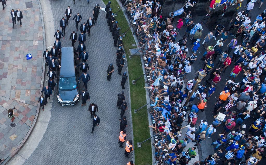 Argentina bids final farewell to favorite son Maradona