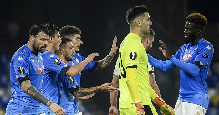 Napoli honour Maradona with win, Leicester and Arsenal in Europa last 32