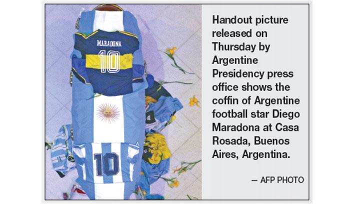 Maradona to be buried in Jardin de Paz cemetery today