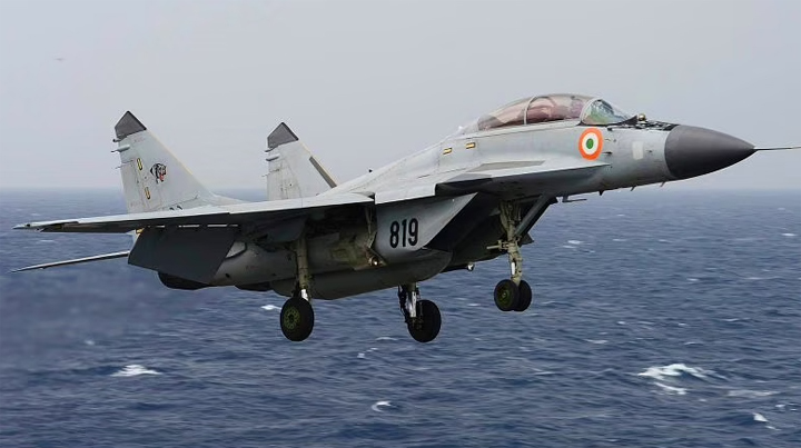Indian Navy's MiG-29K trainer aircraft crashes into the Arabian sea; one pilot rescued, another missing