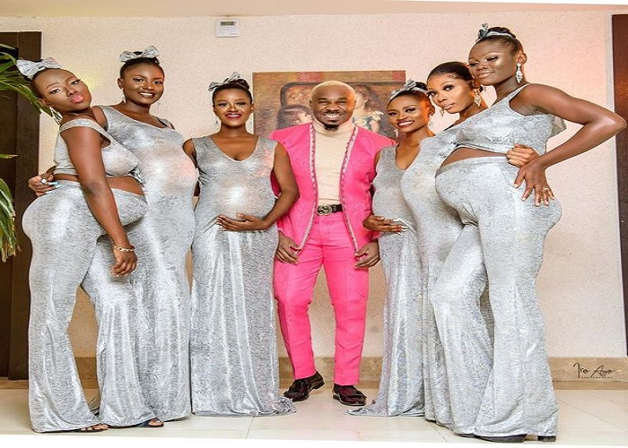 Man arrives at wedding with six pregnant girlfriend