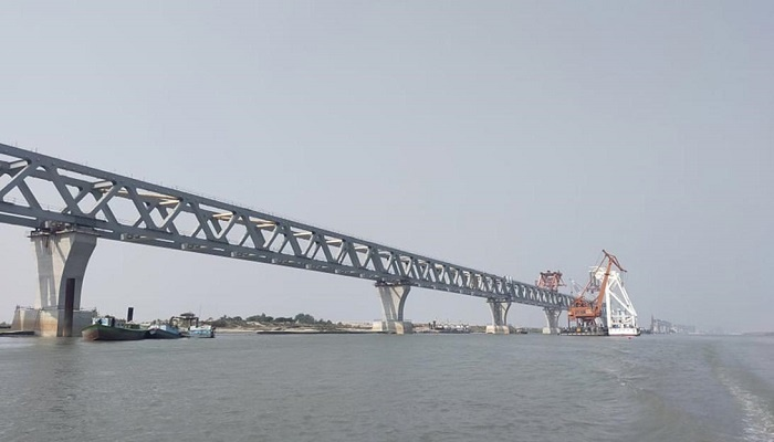 5.8km of Padma Bridge visible after installation of 39th span