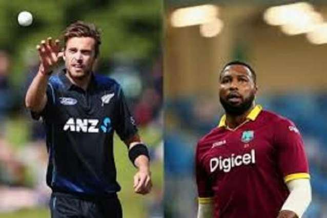 New Zealand win toss and bowl in 1st West Indies T20