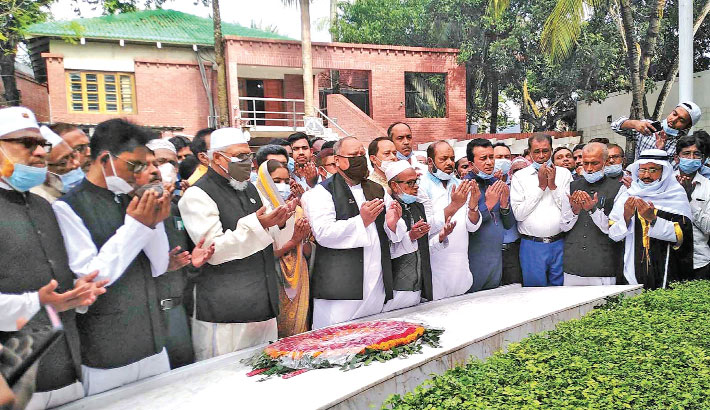 State minister for religious affairs pays homage to Father of the Nation Bangabandhu