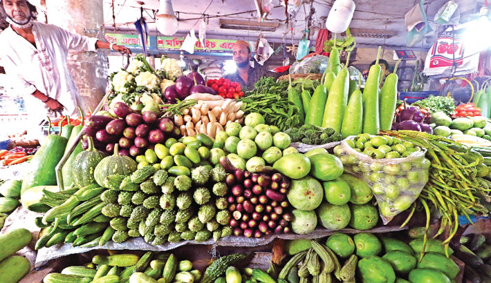 Vegetable prices fall slightly
