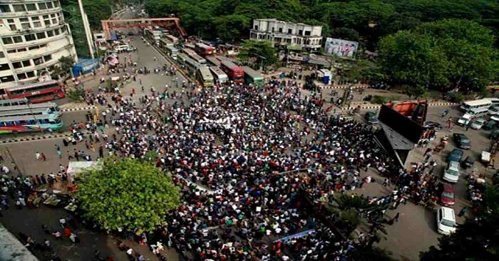 Muktijoddha Mancha blocks Shahbagh demanding arrest of Mufti Faizul, Mamunul