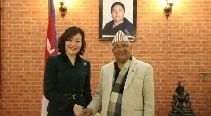 PM Oli pulls off surprise, draws a red line for ambassador Hou Yanqi