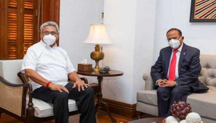 Indian NSA Ajit Doval meets Lankan President