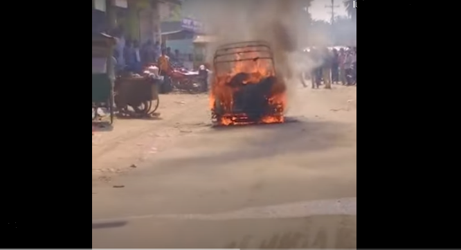 Mother-daughter burnt in fire caused by auto-rickshaw gas cylinder leakage in Kishoreganj