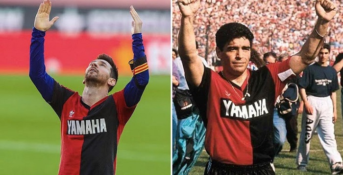 Messi's tribute to Maradona celebrating goal