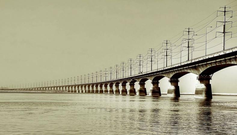 PM lays foundation stone of Bangabandhu Rail Bridge