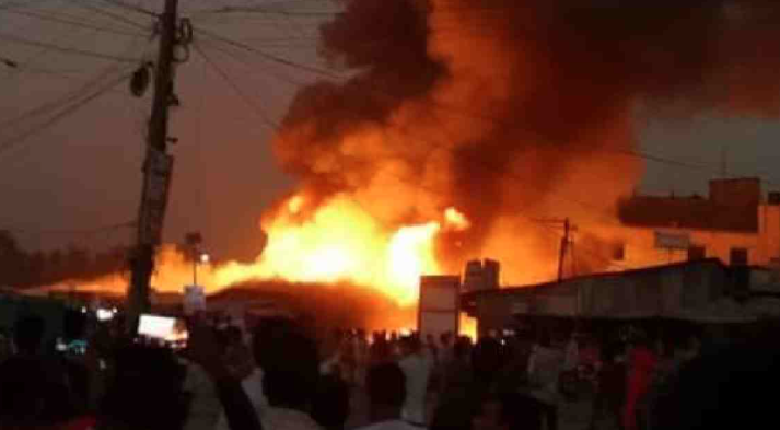100 shops gutted in Gazipur fire
