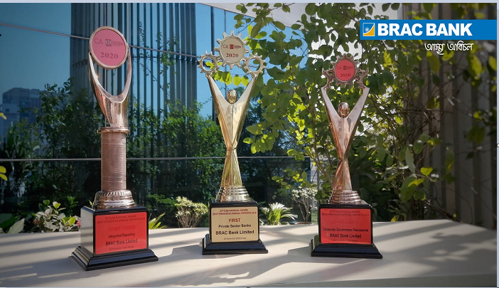 BRAC Bank wins three awards from ICAB for its 2019 annual report