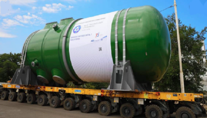 Equipment of first reactor vessel for Rooppur NPP manufactured at Atommash
