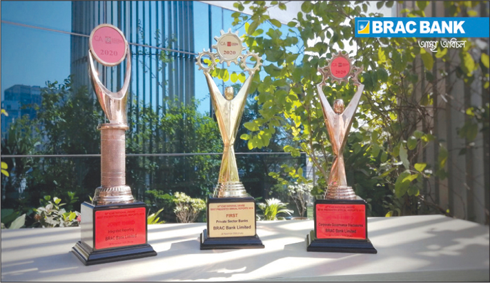 BRAC Bank wins 3 awards from ICAB