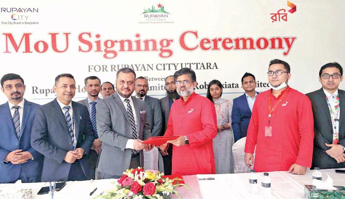 Robi, Rupayan Housing sign MoU to introduce spl offers for Robi elites